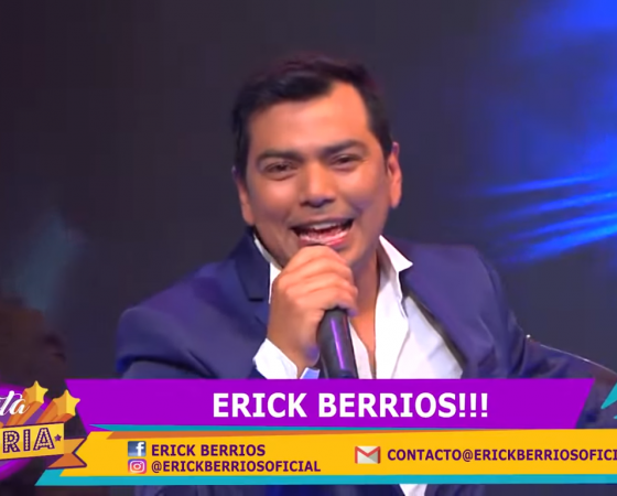 ERICK BERRÍOS EN FIESTA CON ALEGRÍA DE CANAL VIVE DE VTR